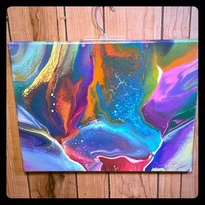 Acrylic pour painting 16x20